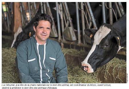 Ouest-France – Le bien-être des animaux, ça s'apprend en ligne.