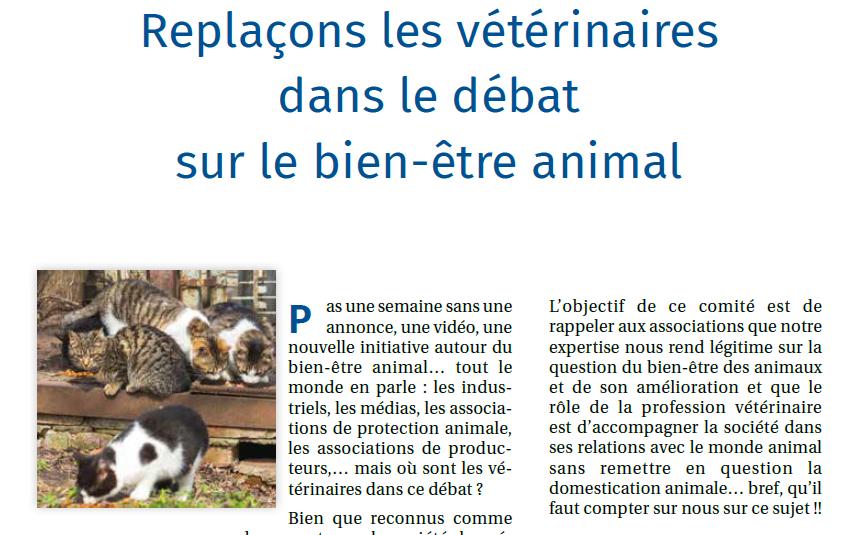 PratiqueVet – Replaçons les vétérinaires dans le débat sur le bien-être animal